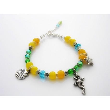 Bracelet perles aux couleurs du brésil