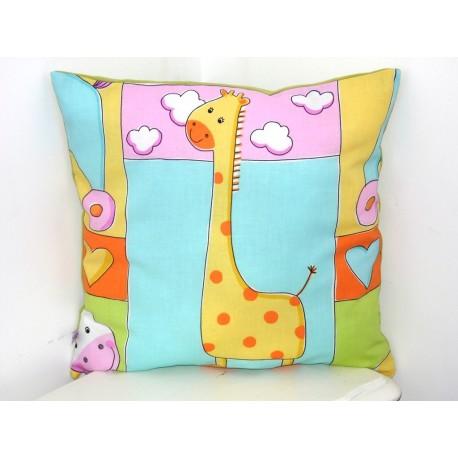 Coussin chambre d'enfant girafe
