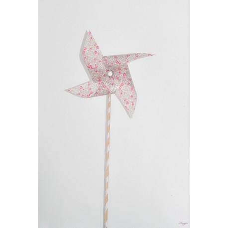 Moulin à vent liberty Eloïse rose