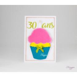 Faire-part cupcake gourmand