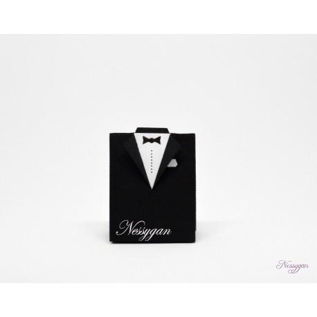 Boîte pour dragées costume mariage