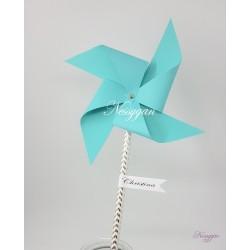 Moulin à vent personnalisé avec étiquette