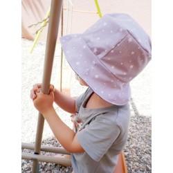 """Bob pour enfant chapeau de soleil """"étoiles"""""""