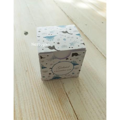 Boîte pour dragées thème dinosaures