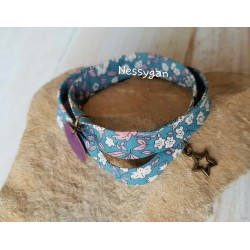 Bracelet liberty Daisy Daisy dark mint double tour