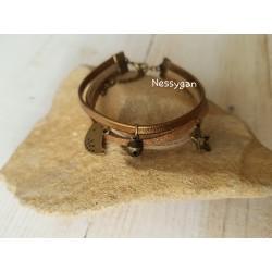 Bracelet suédine or pour femme