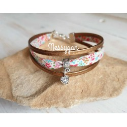 Bracelet cuir or & Liberty Eve