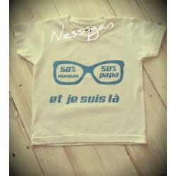 Tee-shirt 50% maman -50% papa