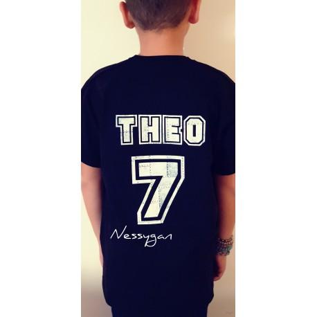 Tee-shirt personnalisé football enfant -