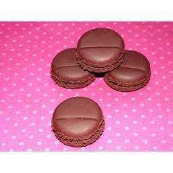Marque-place macaron marron chocolat
