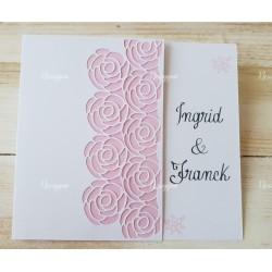 Faire-part de mariage blanc & rose