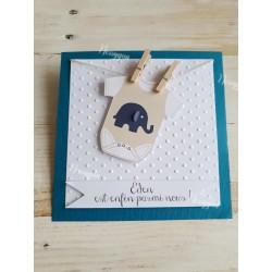 Faire-part naissance thème éléphant