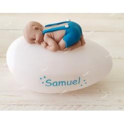 Veilleuse personnalisée led pour bébé métisse