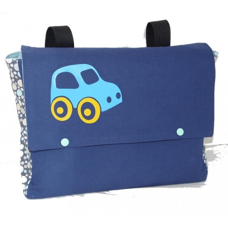 Cartable maternelle bleu pour gar on voiture nessygan - Image cartable maternelle ...