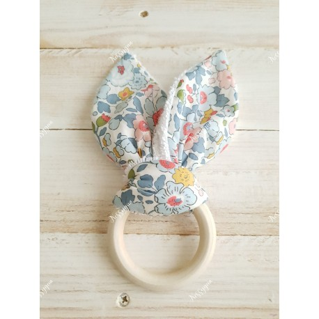 Anneau de dentition oreilles de lapin Liberty Betsy porcelaine
