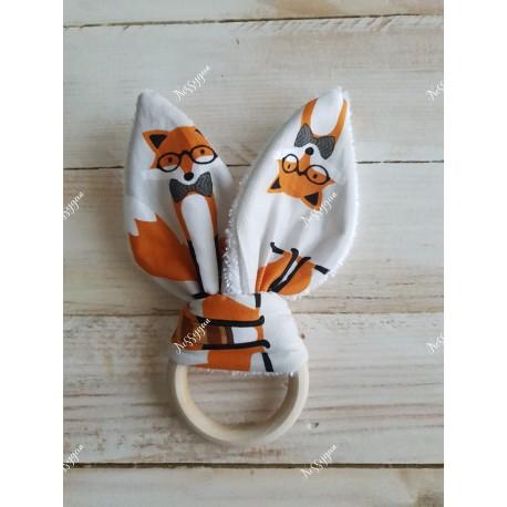 """Anneau de dentition oreilles de lapin """"Little Fox"""""""