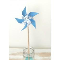 Moulin à vent étoiles bleues