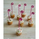Marque-place cupcake gourmand chantilly sucre d'orge