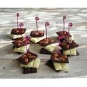 Marque-place 3 tablettes de chocolat, chocolat blanc, amandes