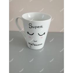 """Mug personnalisé sourire """" Super maîtresse"""""""