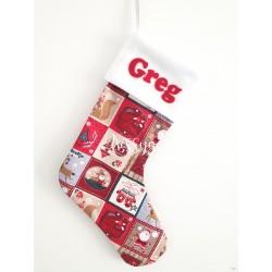 Chaussette de Noël imprimée et personnalisée par un prénom