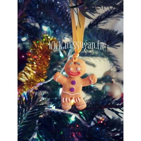 Suspension de Noël bonhomme biscuit