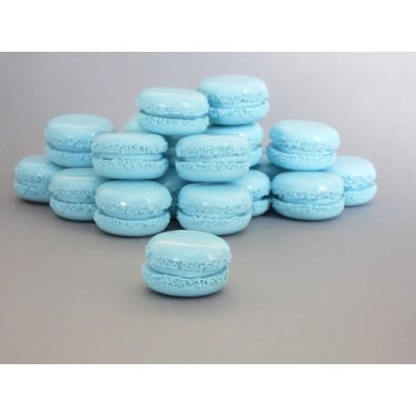 Marque-place / porte_nom macaron bleu ciel