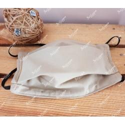 Masque de protection avec élastique beige