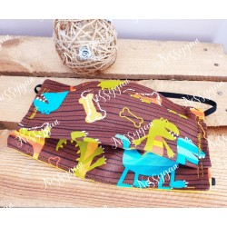 Masque de protection pour enfant dinosaure