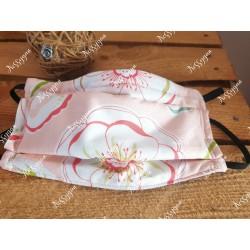 Masque de protection élastique fleurs roses