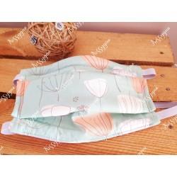 Masque de protection élastique imprimé dandelion