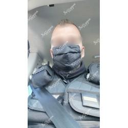 Masque de protection noir flamme grenade Gendarmerie