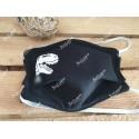 Masque de protection noir personnalisé dinosaure