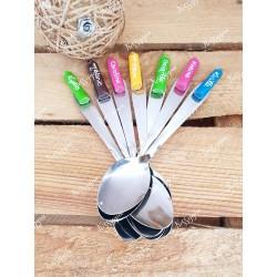 Petite cuillère crayon couleur personnalisée cadeau pour maîtresse, maître et atsem