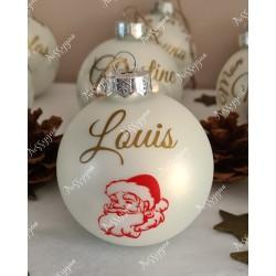 Boule de Noël en verre personnalisée Père Noël