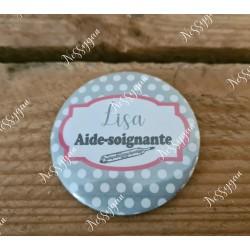 badge personnalisé rond pour infirmière, aide-soignante, sage-femme