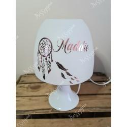Lampe personnalisée avec prénom thème attrape rêve