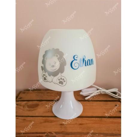 Lampe personnalisée avec prénom thème lion