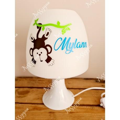 """Lampe personnalisée avec prénom """"petit singe"""""""