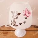 Lampe personnalisée avec prénom jolie girafe