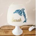 Lampe personnalisée avec prénom thème dauphin