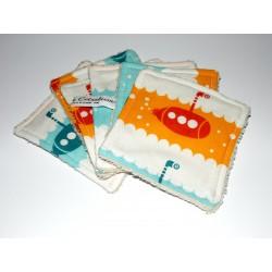 """Lingettes lavables pour bébé """"sous-marins"""""""