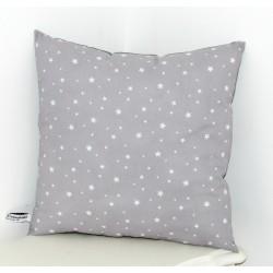 Coussin gris étoiles blanches pour chambre d'enfant