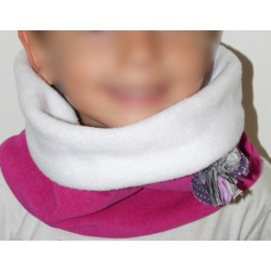 Snood velours milleraies rose fuschia pour fille