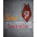 Serviette de bain personnalisée d'un renard