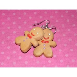 "boucles d'oreille ""Ti Biscuit "" gingerbread pain d'épices"