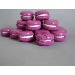 Marque-place ou porte-nom macaron violet - déco mariage, bapême