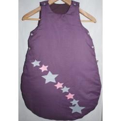 """Gigoteuse violette à pois blanc """" Nuit d'étoile"""""""