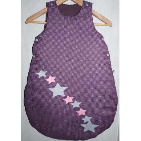 Gigoteuse violette à pois blanc & étoile