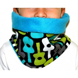 "Snood polaire "" Guitares multicolores"" pour enfant"